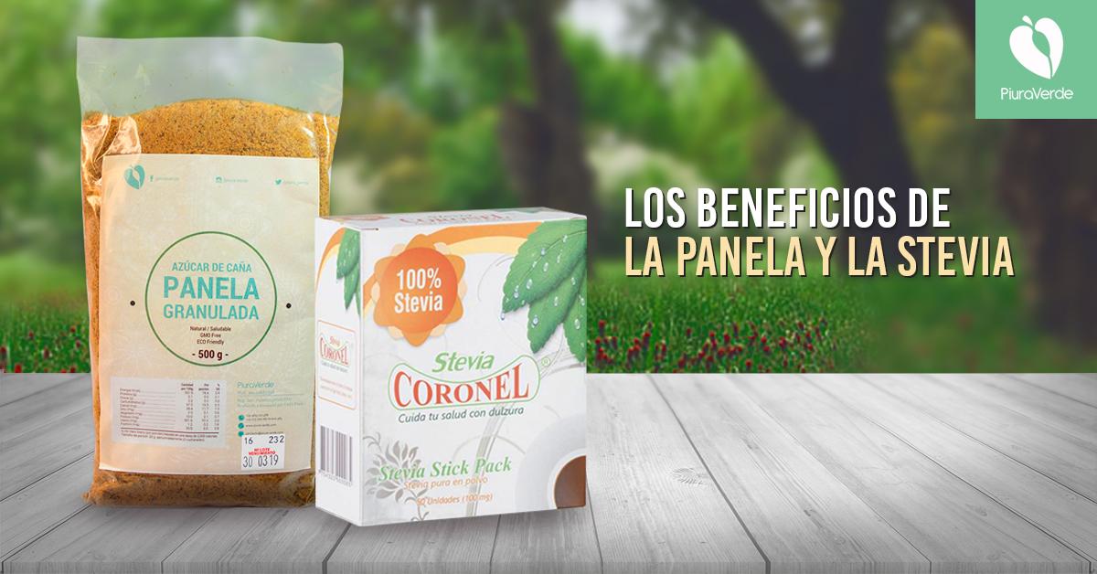 Beneficios de consumir endulzantes como la panela y la stevia