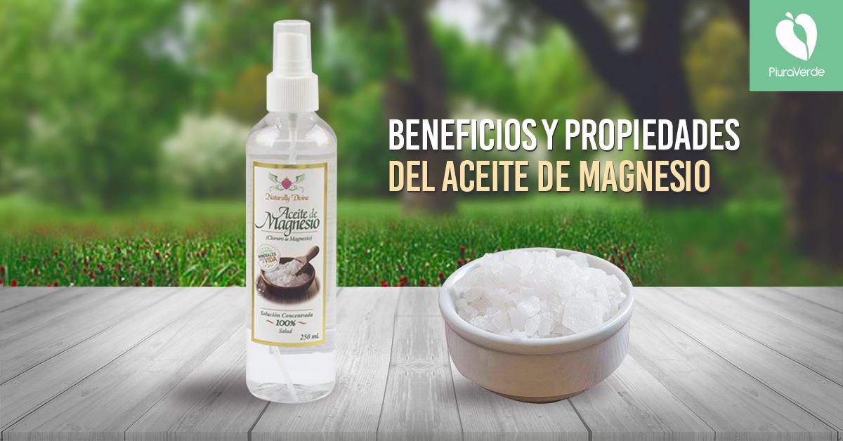 Aceite de magnesio: beneficios y propiedades