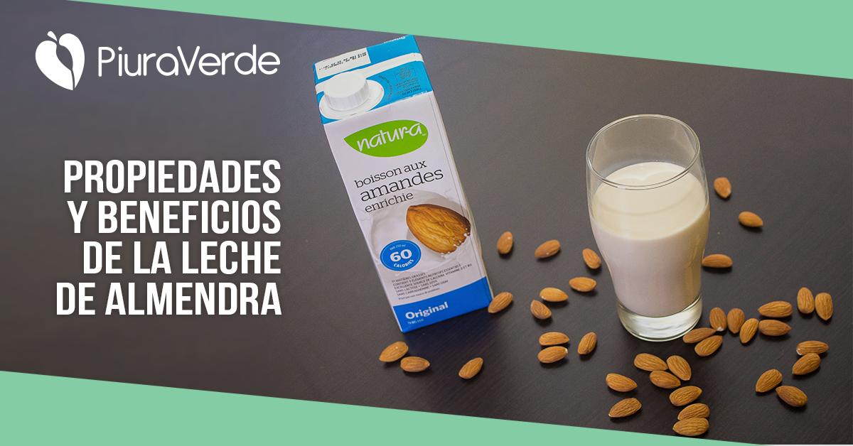 Propiedades y beneficios de la leche de almendra.