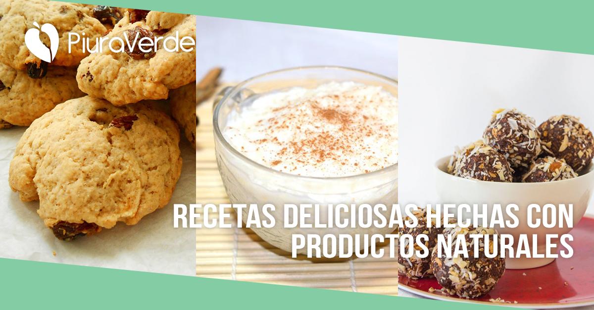 Recetas deliciosas con productos naturales