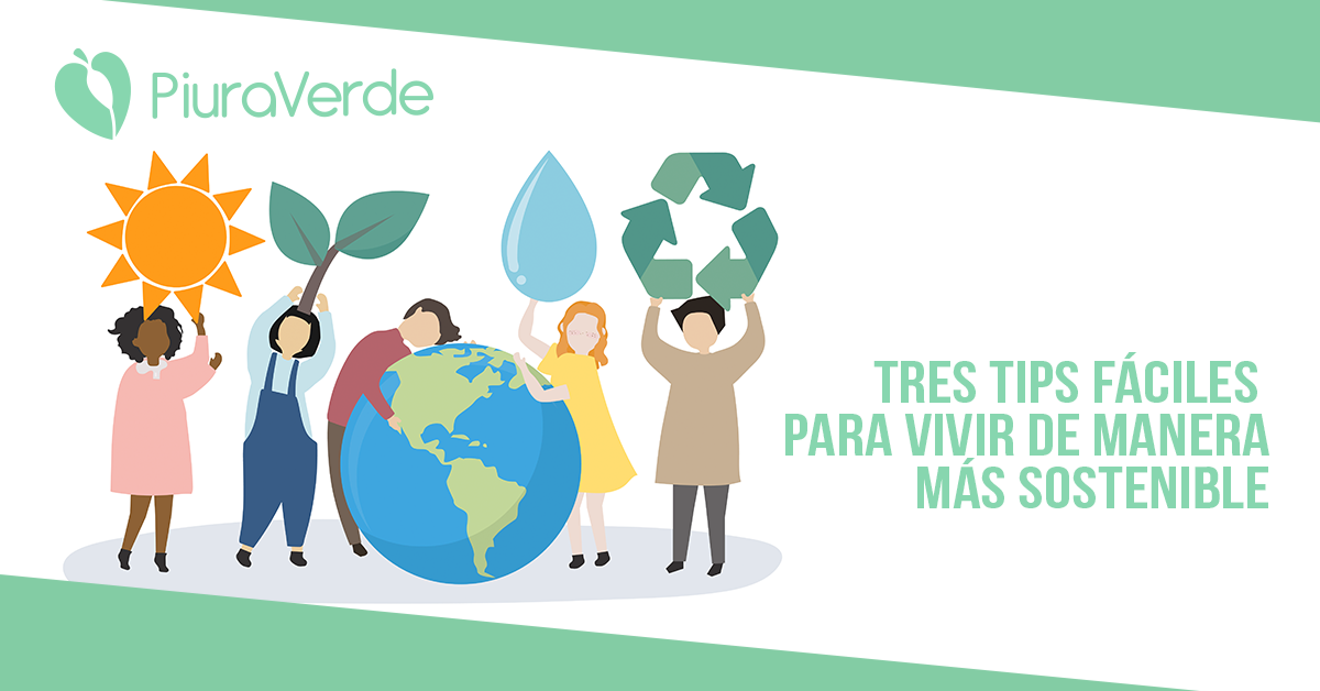 Vivir de manera sostenible-3 tips para llevar una vida sostenible